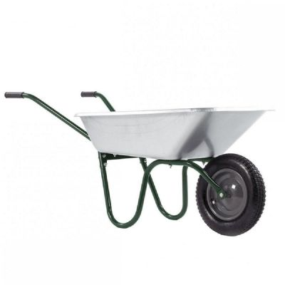 85 Litre Kit Wheelbarrow Galvanised Tray